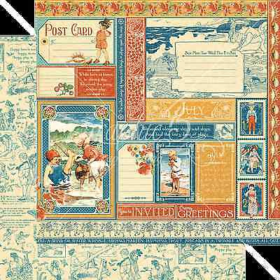 Graphic45 JULY MONTAGE 12x12 Dbl-Sided Scrapbook Papers VINTAGE 2
