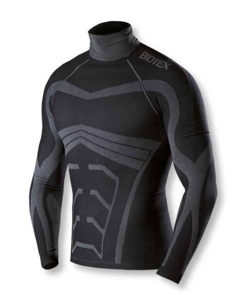 Strick Stehkragen Limitless Biotex 114 Powerflex Warm Schwarze Farbe