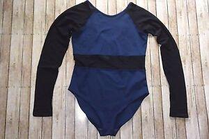 Top Body Leotard Womens Park Nwot Black Suit Ivy Blue Medium BOxAq4w0F