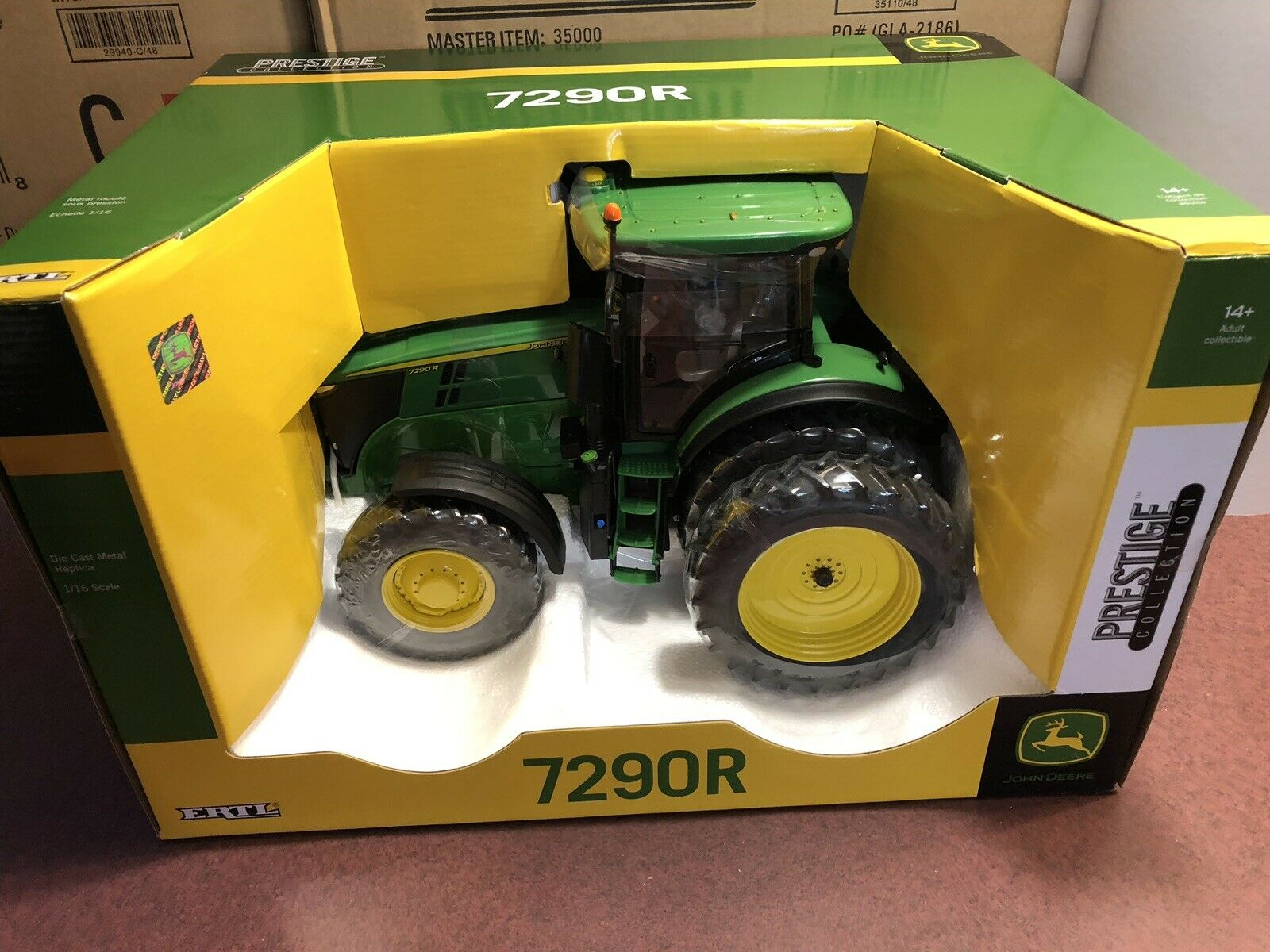 toma Ertl 1 16 Prestige Colección De John Deere Deere Deere 7290R Tractor con DUALS Trasero  nuevo sádico