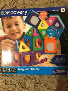 Discovery Kids 24 Piece Magnetic Tile Set Building ...