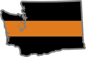 """2-5/"""" Thin Orange Line American Subdued Flag Decal Search Rescue SAR Sticker R"""