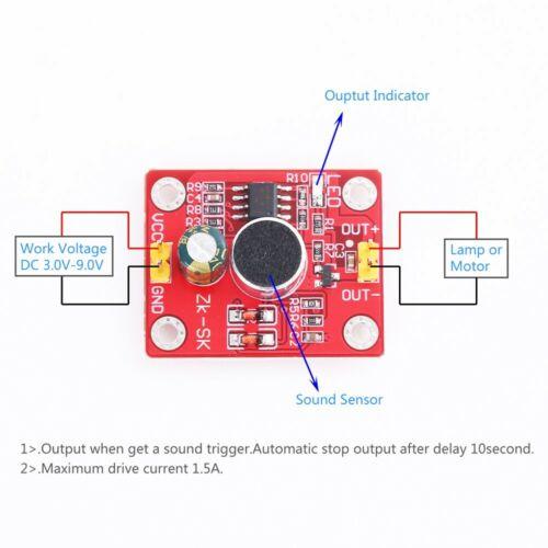 DC 3V-9V Voice Delay Driver Module Intelligent Control Sound Sensor for arduino