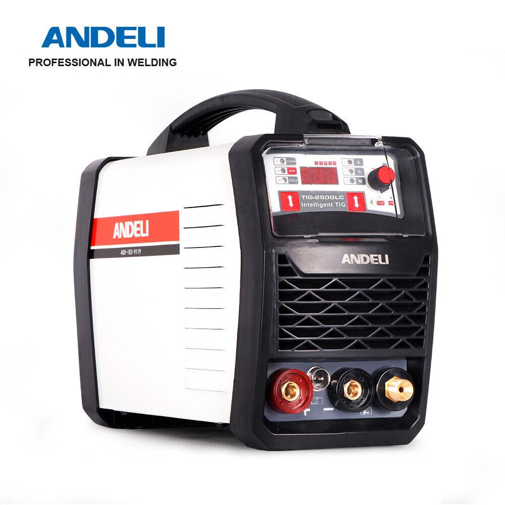 andeli_official_store 220V DC Inverter COLD/TIG/CLEAN Multi-Function TIG Welder TIG Welding Machine