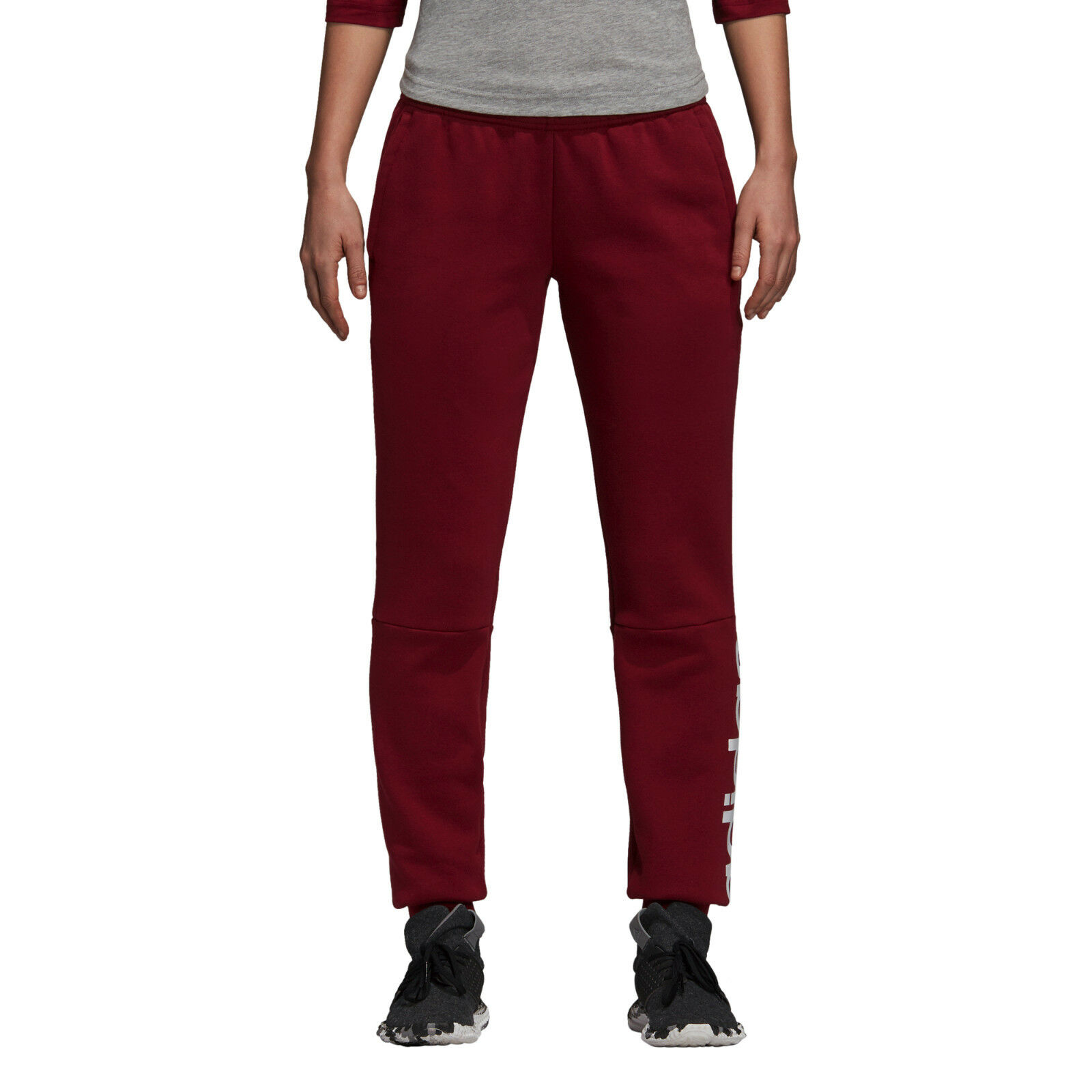 Adidas Women Pants Running Athletic Essentials Linear Trousers Training DI0109