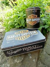 Official - GENUINE HARLEY-DAVIDSON - Motorcycles Tin Storage / Lunch Box Set