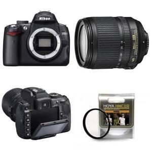 Camara-SLR-Nikon-D5000-D-18-105mm-VR-Kit-de-Lente-12-3MP-2-7-pulgadas-LCD-Filtro-Hoya-67mm