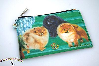 Pomeranian Dog Bag Zippered Pouch Travel Makeup Coin Purse