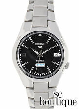 SEIKO 5 SNK623 Men's Sport Automatic 21 Jewels Day-Date Black Dial Steel Watch