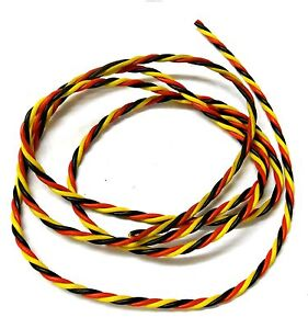 C1301-2 Compatible Hitec Extension Lead Wire Twisted 2m 200cm 22AWG 2 Meter
