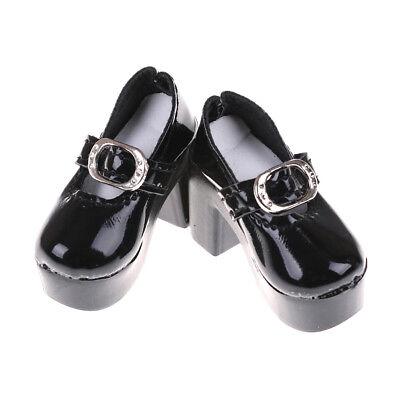 1pair Black PU Leather 1//4 Doll Shoes for 50cm Dolls Accessory 6.3cm ES