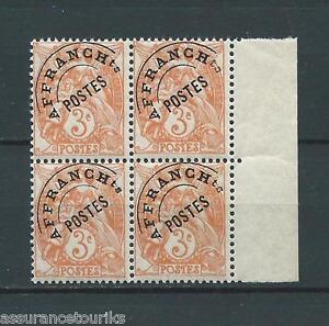 PREOBLITERES-1922-47-YT-39-BLOC-DE-4-TIMBRES-NEUFS-LUXE-COTE-100-00