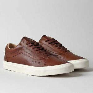 52bfe8721c Vans OLD SKOOL Lux Leather Shaved Chocolate Porcini Men s Shoes 7 ...