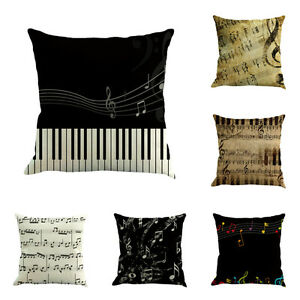 Music-Note-Stave-Melody-Theme-Removable-Linen-Cushion-Cover-Throw-Pillow-Case-C2
