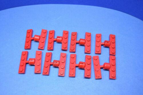 LEGO 8 Paar Platte 1x4 rot Anhängerkupplung rot 8 pair red coupling 3183 3184