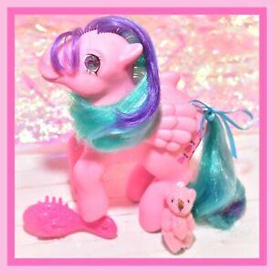 My-Little-Pony-MLP-G1-VTG-WHIZZER-Jewel-Gem-Twinkle-Eye-Eyed-Pink-Pegasus