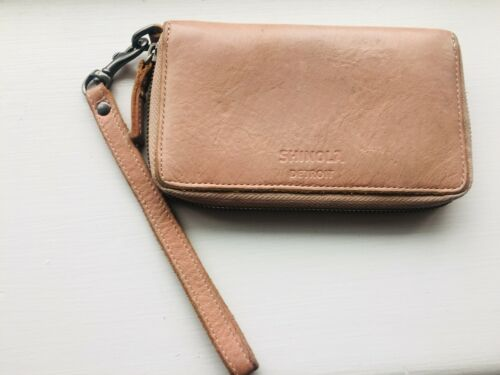 Shinola Leather Wristlet Wallet