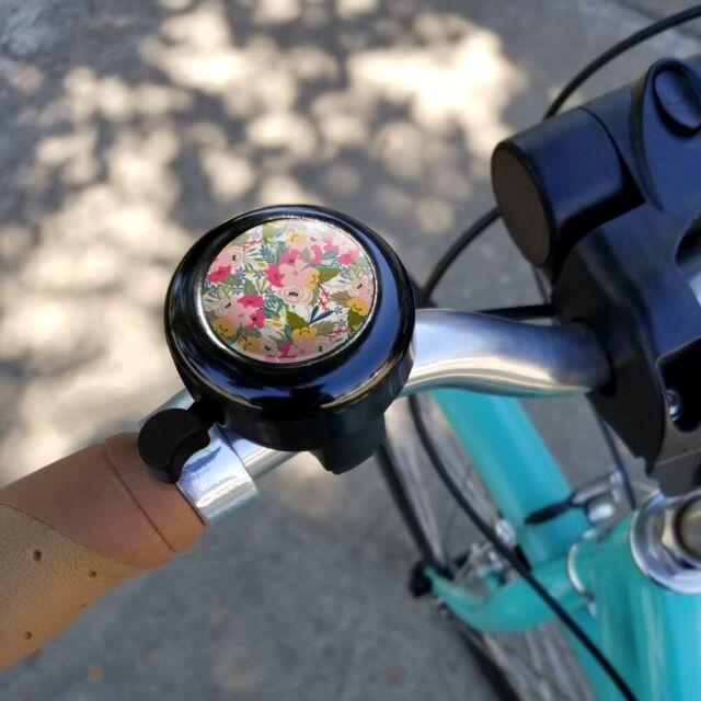 Simona Flowers Floral Pattern Bicycle Handlebar Bike Bell