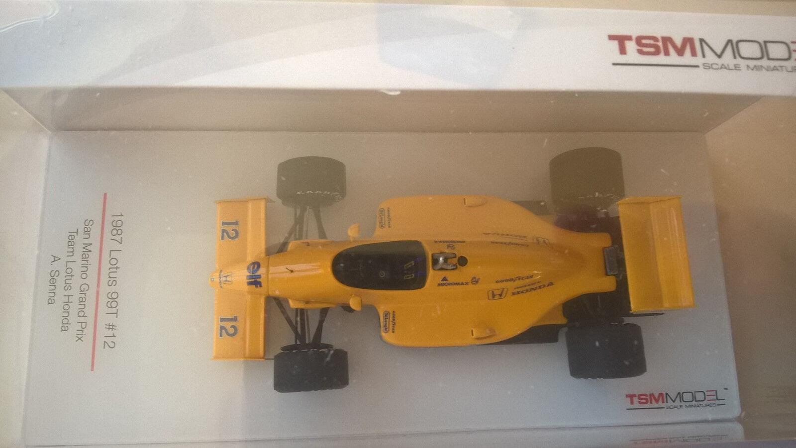 Lotus 99T - GP San Marino 1987 - Ayrton Senna - TSM-Model - 1:43 - TSM164359