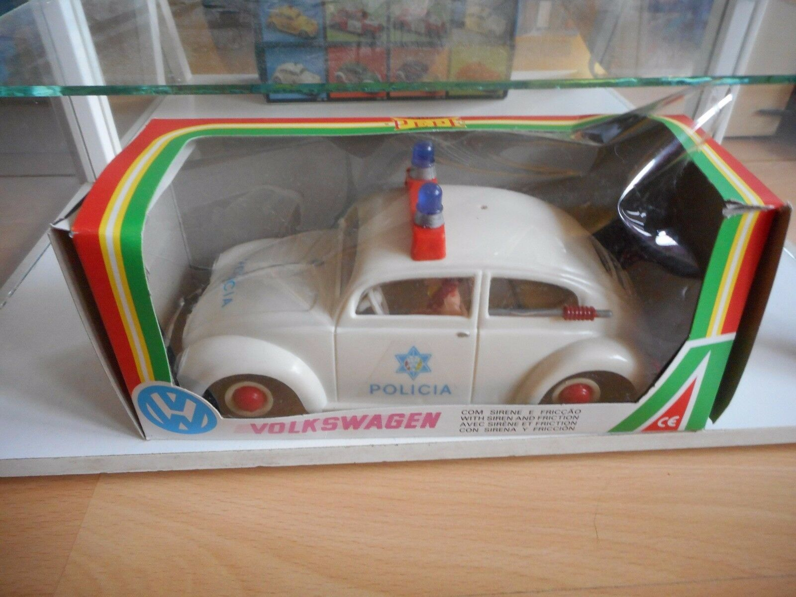 PEPE VW Volkswagen Beetle Policia in bianca in Box