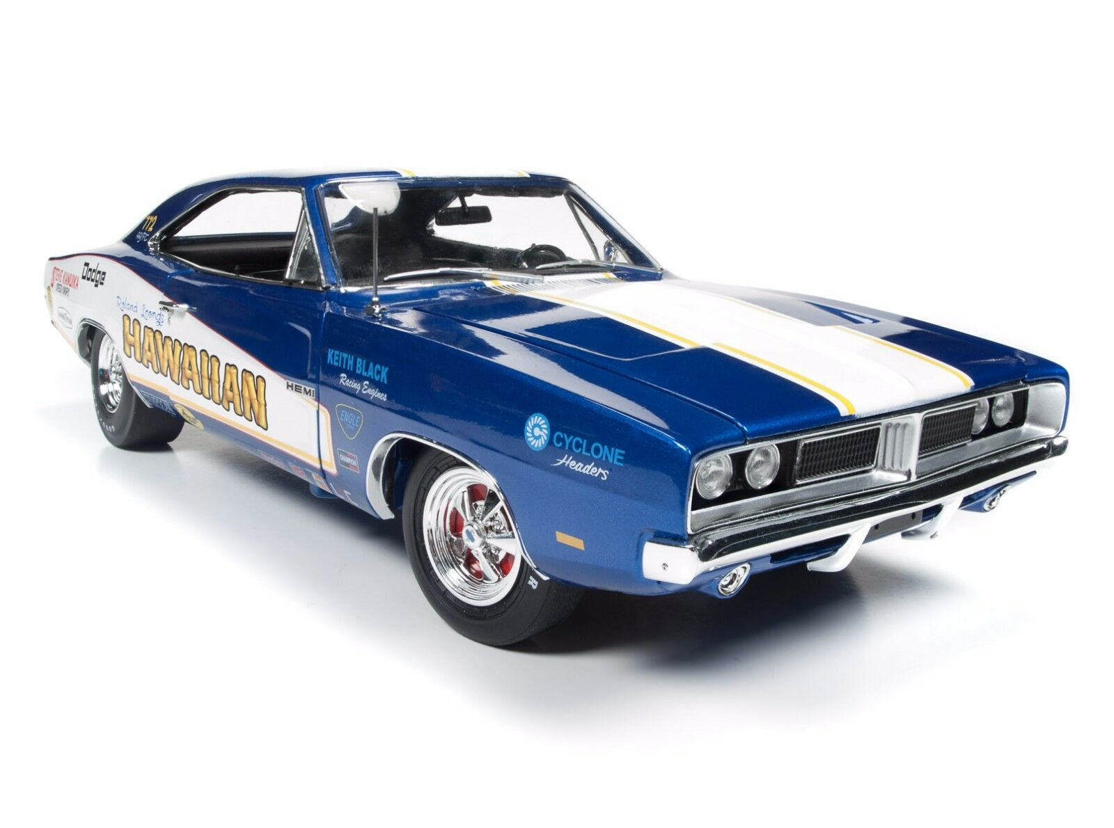 Auto World 1 18 Racing  rêves Hawaiian 1969 Dodge Charger R T Diecast voiture AW231  2018 magasin