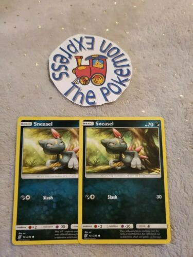 Pokémon TCG 2x Sneasel #131//236 Unified Minds Mint Darkness Type English Common