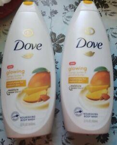 Dove Glowing Mango Butter Almond Butter Nourishing Body Wash 22 Ounce 2 Pk 11111016408 Ebay