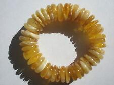 """Genuine Baltic Honey/Butter Disc/Rondelle Amber Beads - 15.5-18mm - 8.5"""" Str"""