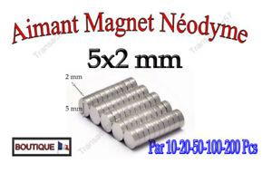 Trempé Aimant Neodyme Magnet Disque Puissant Rond 5x2 Mm