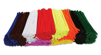 BROWN  Pipe Cleaners  30cm x 6mm Chenille Craft Stems 50 100 150 200 /> 1000