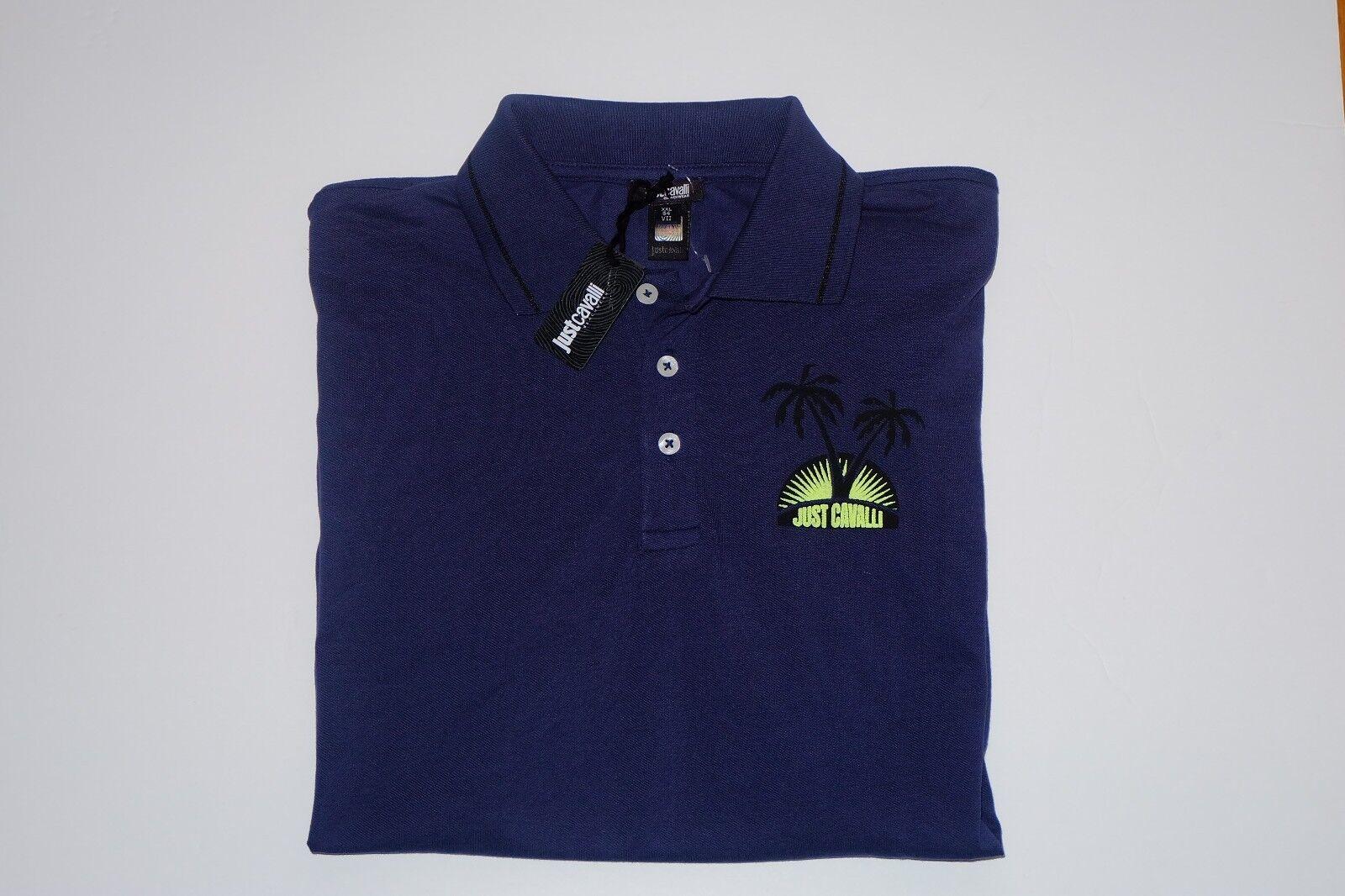 NWT AUTHENTIC Just Cavalli Beachwear Polo Shirt, XXL (54)
