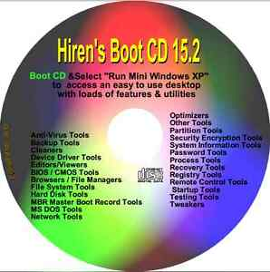 Details about Hiren's Boot CD Restore Repair Diagnose PC Boot on any PC  Windows 7, Vista, XP