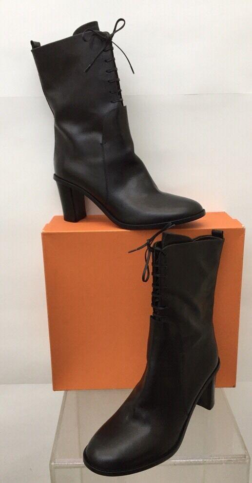 punto vendita AGL Attilio Giusti Leombruni Leombruni Leombruni nero Leather Ankle Lace Up avvio Sz 9 ( 40 EU ) NEW  buona reputazione