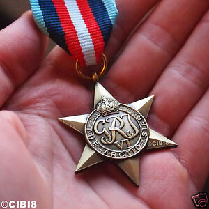 STELLA-medaglia-ww2-Militare-Inglese-Arctic-Convoy-premio-reale-blu-navy