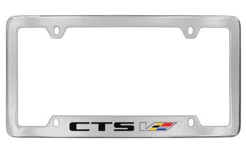 Cadillac CTS-V Chrome Metal license Plate Frame Holder 4 hole