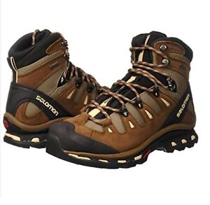 Details about Salomon Quest 4D 2 GTX Support Waterproof Brown Fossil Hiking Trail Boots 7 Mens