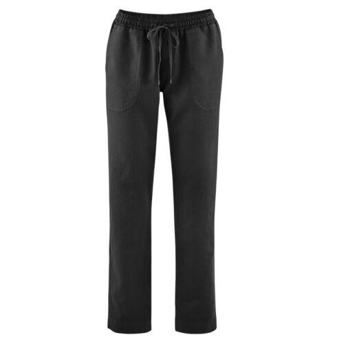Living Crafts Damen Hose mit Bindebändchen Bio-Leinen//Bio-Baumwolle