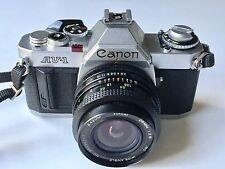 Canon AV-1 Film Camera & Vivitar  28mm F2.8 M/F Lens - Excellent Condition