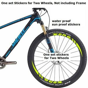 Two Wheel Stickers Set for SHIMANO XTR Mountain Bike Bicycle MTB Cycling Decals