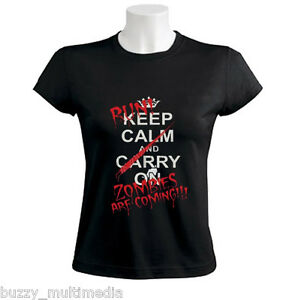 Run-Zombies-Are-Coming-Shirt-Keep-Calm-and-Carry-On-Women-Adult-Long-Sleeve
