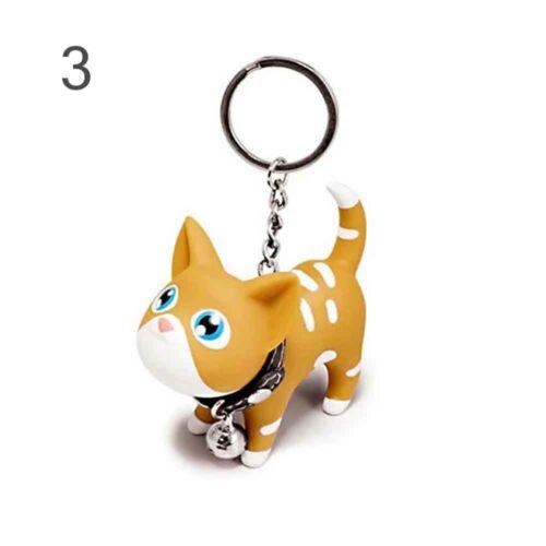 Smile Purse Bag Gift Vinyl Cat Keychains Finger Toy Bell Key Holder