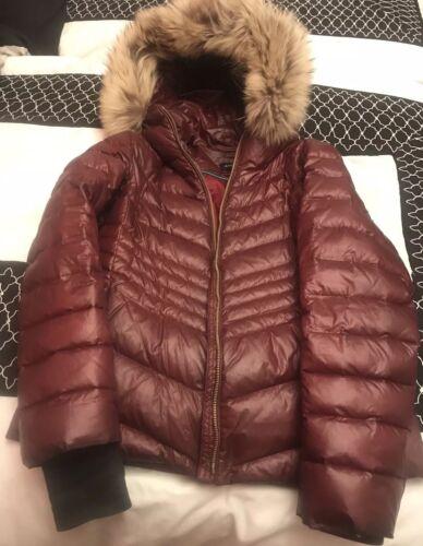 Andrew Hood Racoon Marc Burgundy Frakke Down Puffer M Kvinder Størrelse Fur Real Med dgqw8vn