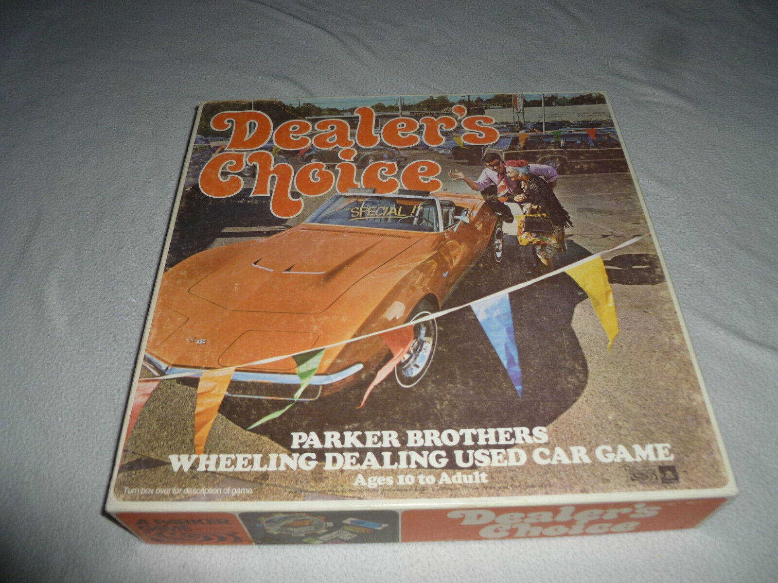 Dealers choice board parker brothers corvette used car salesman game 1972 cib