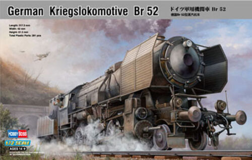 HOBBYBOSS 82901 1/72 GERMAN KRIEGSLOKOMOTIVE BR52 PLASTIC MODEL RAILROAD KIT