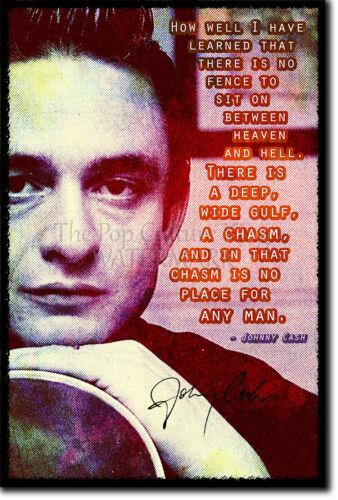 Johnny Cash Foto impresión Poster Regalo