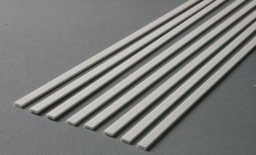 Grundpreis 1,20 €//m weiß Polystyrol-Streifen gefräst 1,5 x 2,0 mm 10 Stk.