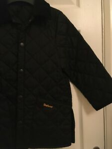 Stunning-Black-Barbour-jacket-kids-size-small-Practically-Brand-New