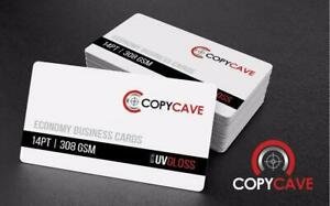 Cheap Business Cards | Business Card Printing on heavy 14pt Stock, only $28.69 for 500! | Flat-rate design available Canada Preview