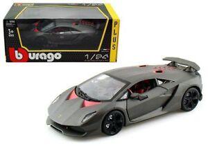 Bburago 1 24 W B Lamborghini Sesto Elemento Diecast Car Grey 18