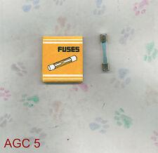 TESSCO AGC 5  FUSE  250 VOLT  5  AMP (PKG 5) AGC5  AUTO FUSE